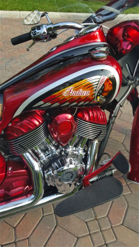 fully custom indian chief classic motorcycle