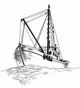 Boat Fishing Drawing Sketch Coloring Pages Drawings Boats Clipart Pencil Ship Sketches Sailboat Fish Kidsplaycolor Tattoos Ocean Tuna Ships Drawn sketch template