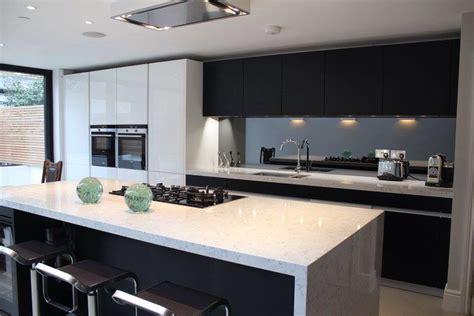 cocina blanco  negro cocinas pinterest cocinas