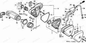 Honda Motorcycle 2003 Oem Parts Diagram For Air Cleaner