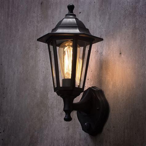 1 light wall lantern traditional outdoor light w pir