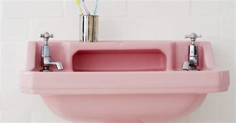 pink kitchen sink how to decorate a pink bathroom sink toilet tub ehow uk 1501
