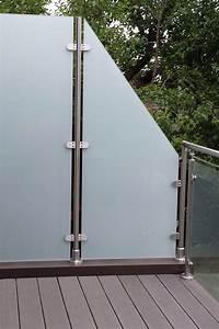glas edelstahl sichtschutz transvent bis 1800 mm hohe With französischer balkon mit garten windschutz