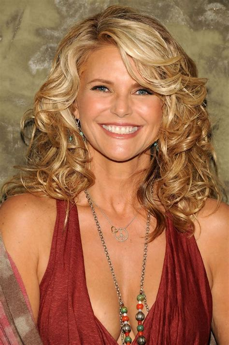 christie brinkleys highlighted curls bobs  women