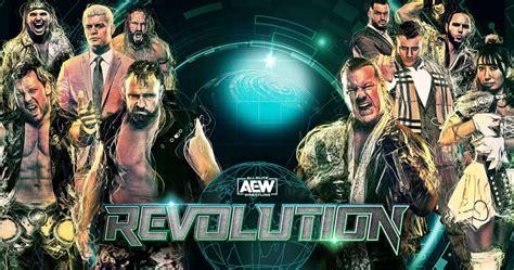 aew revolution  match card start time
