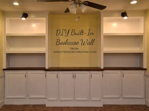 do it yourself built in bookcase plans my diy built in bookcase wall is finished before after