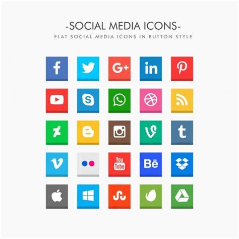 Social Media Icons Vector Flat Social Media Icons Pack Vector Free