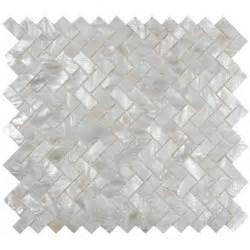 white herringbone of pearl shell tile for backsplashes showers more ebay