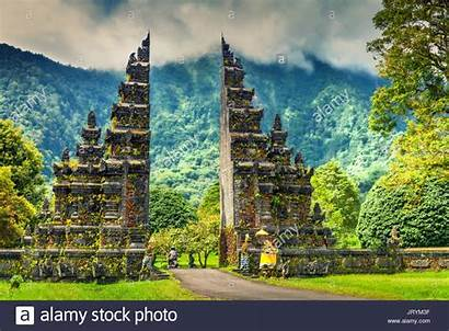 Indonesia Temple Bali Hindu Entrance Alamy