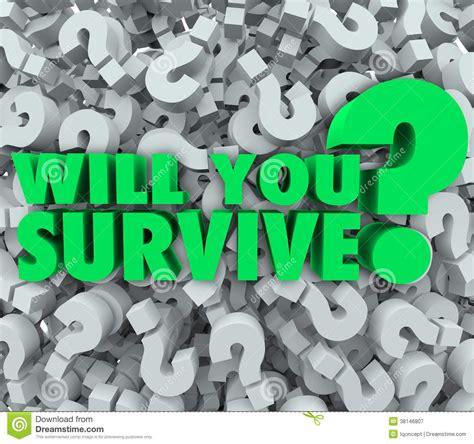 survive question mark background endurance