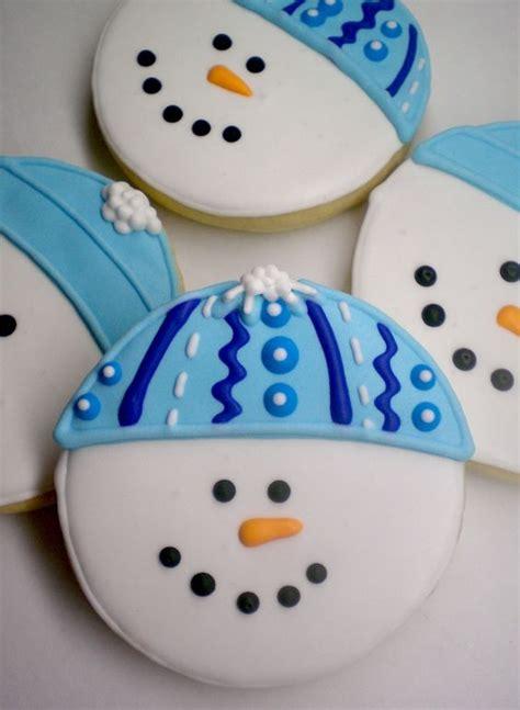 christmas cookies snowman  cookies  pinterest