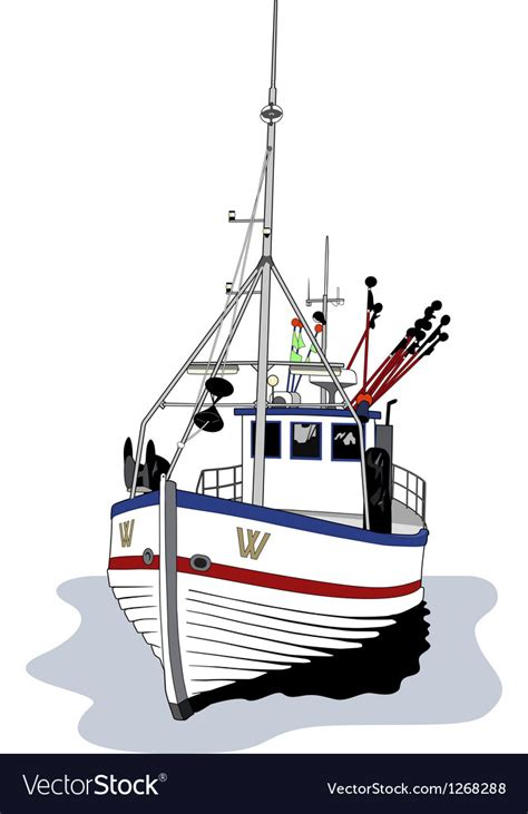 Fishing Boat Images Free by Fishing Boat Royalty Free Vector Image Vectorstock