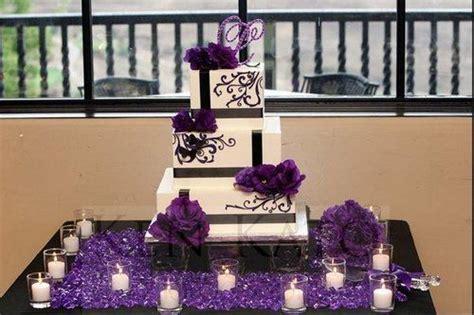 dark purple  silver wedding cakes black purple