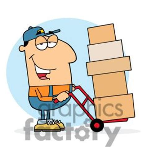 a postman using a dolly to   Clipart Panda - Free Clipart ...