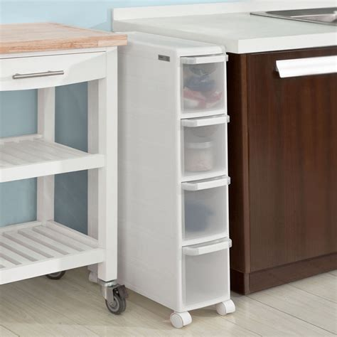 Kitchen Cupboard On Wheels by Sobuy 174 4 Drawers Kitchen Cupboard Bathroom Cabinet Slide