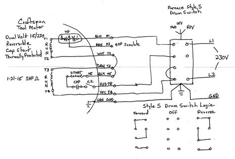 Wiring Single Phase Motor Drum Switch Page