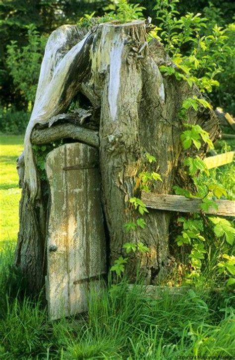 31 Best Tree Stump Fairy Houses Images On Pinterest