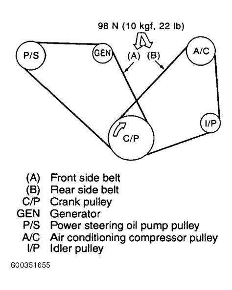 Baja Engine Diagram by 2004 Subaru Forester Serpentine Belt Routing And Timing