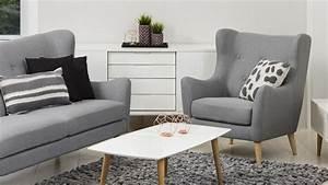 3 Sitzer Sofa : garnitur kamma retro 3 sitzer sofa sessel stoff hellgrau ~ Frokenaadalensverden.com Haus und Dekorationen