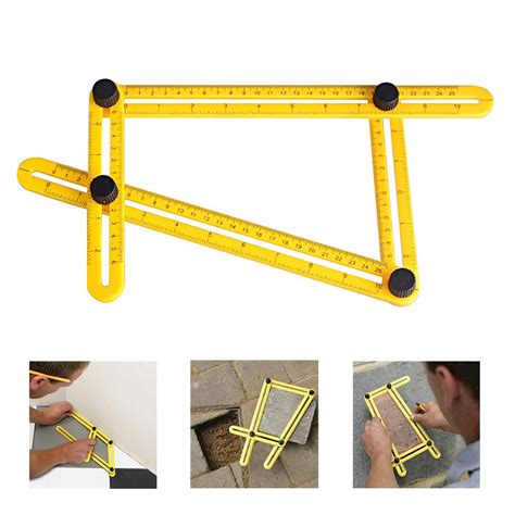 multi angle ruler template tool universal nook scale ruler angleizer multi angle measuring template tool precise ebay