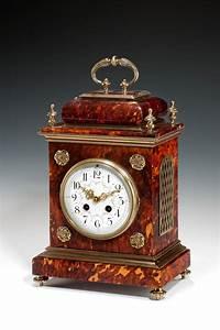Antique, Tortoiseshell, Mantel, Clock, Queen, Anne, Style