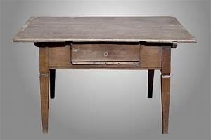 Tisch Aus Alter Tür : antiker tisch empire eiche zahltisch mit schublade ~ Lizthompson.info Haus und Dekorationen