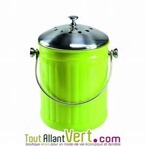 Petite Poubelle Cuisine : poubelle compost vert anti odeur pour cuisine 4 litres achat vente cologique acheter sur ~ Nature-et-papiers.com Idées de Décoration