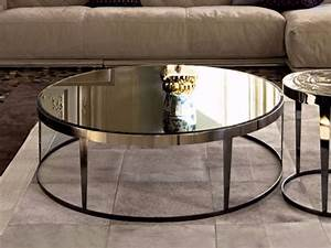 17 best ideas about glass coffee tables on pinterest With mirrored circle coffee table