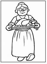 Grandma Coloring Pages Thanksgiving Printable Coloringpagebook Advertisement Grandmothers sketch template