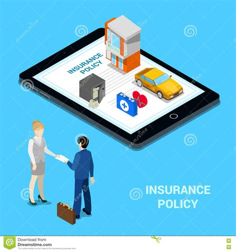 Online Insurance Concept. Insurance Services - House