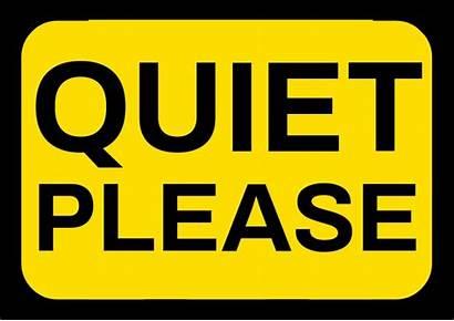 Quiet Please Template A4 Board Plantilla