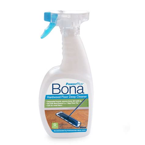 hardwood floor cleaner shop bona powerplus 32 fl oz hardwood floor cleaner at lowes com