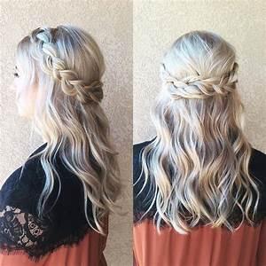 braided half up half down wedding hair ~ we this ...