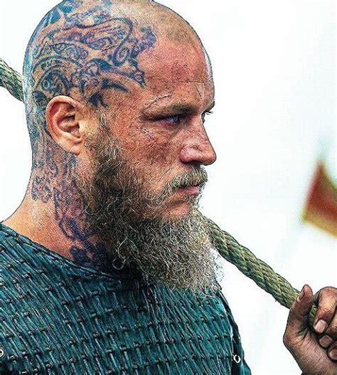 Ragnar Viking's Tattoo On Head **  Vikings Tattoos