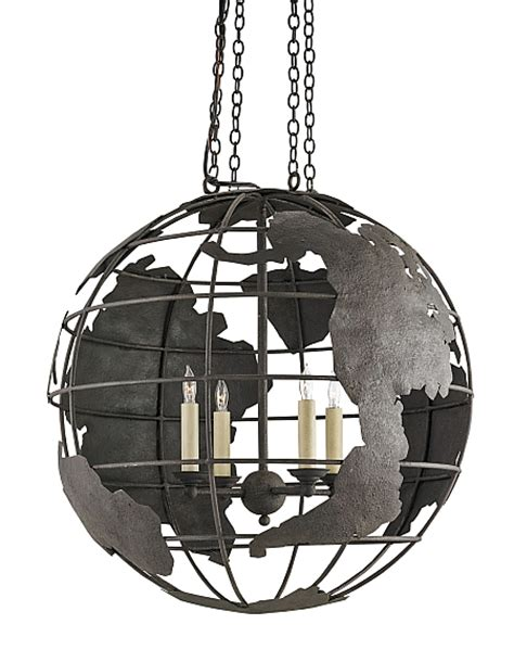 world globe black pendant chandelier the designer insider