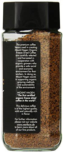 Mount hagen instant coffee buying guide. Coffee Consumers | Mount Hagen Organic Freeze Dried Coffee, 3.53 Ounce (Pack of 6)