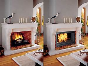 Installer Une Cheminée : cheminee foyer ouvert insert ~ Premium-room.com Idées de Décoration