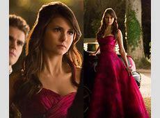 WornOnTV Elena's pink prom dress on The Vampire Diaries