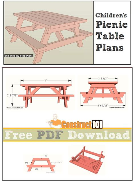 free picnic table plans top 25 ideas about construct101 on pinterest picnic