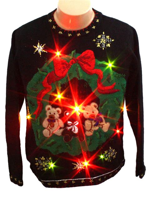 ugly light up christmas sweaters light up ugly christmas sweater b p design unisex