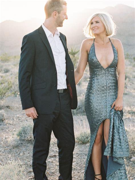 wildly romantic las vegas desert elopement  elvis