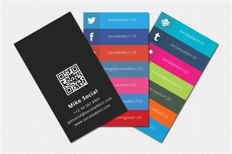 social media business cards samples  design ideas