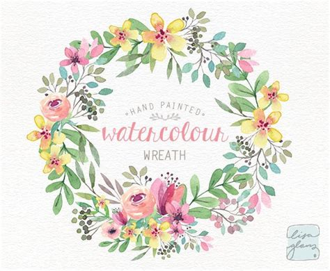 watercolor wreath png floral wreath clipart wedding