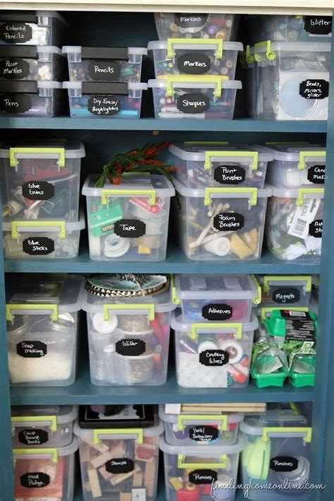 sorting organizing craft supplies awesome blogger