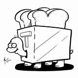 Toaster Drawing Clipartmag Tourtle sketch template