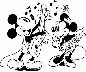clipart black and white disney - Clipground