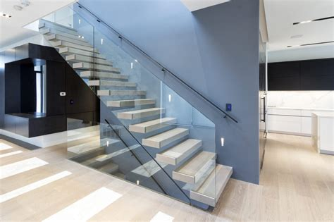 mrail modern stairs floating stairs