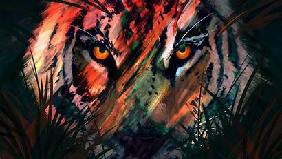 Abstract Lion Dark Wallpapers Animals Soul 4k