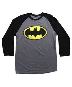 Basic Raglan Shirt Grey Batman Logo