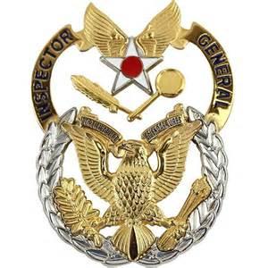 air force identification badge inspector general vanguard